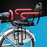 ZHANGZHIYUA Siège arrière de vélo pour Enfants Coussin Repose-Pieds, accoudoir de siège arrière pour vélo d'enfant Coussin de siège, accoudoir de clôture Amovible et pédale