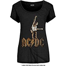 Ladies ACDC Angus Young Statue Rock oficial Camiseta mujeres señoras