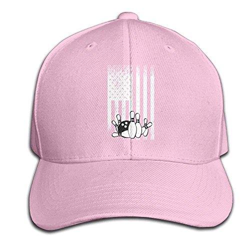 FGHJKL Retro Bowling Flag Snapback Sandwich Cap Black Baseball Cap Hats Adjustable Peaked Trucker Cap