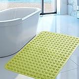FLYRCX Di grandi dimensioni, inodore bagno antiscivolo doccia tappetino doccia ventosa tappetino da bagno 58*90cm,F