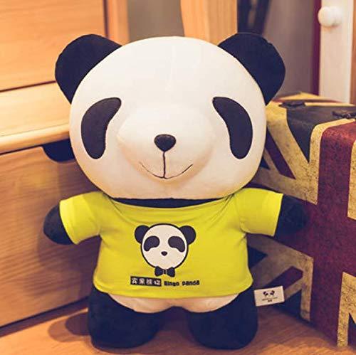 XXCKA Panda Puppe Plüschtier schwarz und weiß süße große Umarmung Bär Bett Schlaf Puppe senden Freundin Geburtstagsgeschenk Bingo Panda 50 cm (Bingo Halloween Drucken)