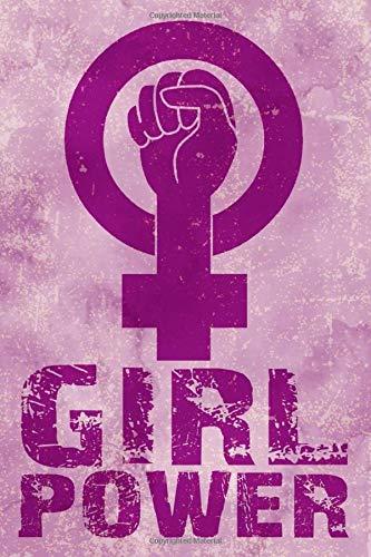 GIRL POWER: Cuaderno a rayas mediana, bonita, feminista. | Regalo perfecto, original y divertido para mujer, chica, niña, adolescente, novia o compañera. | Libreta para cualquier ocasión. 110 páginas.