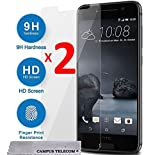 One A9 de HTC 2 Films Vitre Verre Trempé de protection écran pour HTC One A9 by Campus Telecom®