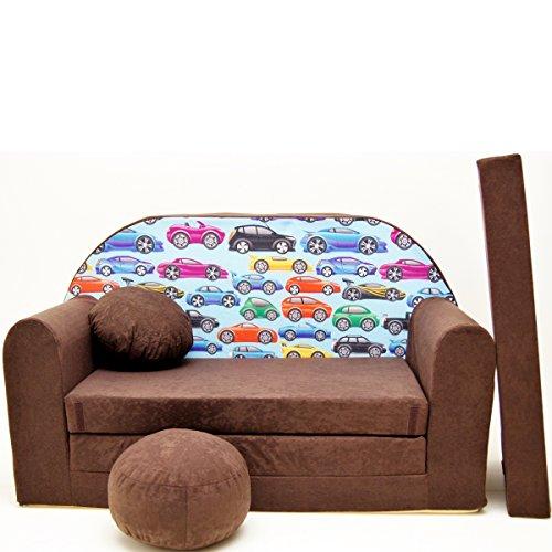 Barabike K21-a Bébés pour Enfants Mini Canapé bébé Canapé lit Pouf Lot de 3 en 1 d'oreillers en Mousse