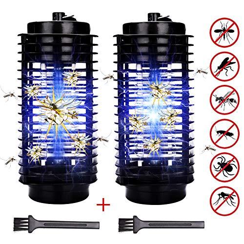 Hengda 2x LED Insektenvernichter mit UV-Licht Camping Mückenvernichter elektrisch Küchen Insektenfalle Fluginsekten GARTEN Mückenfalle Mücken Mückenlampe chemiefrei