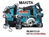 MAKITA Akku-Set DLX6011 18,0 Volt / 3,0 Ah (IEC) Li-Ion 11-teilig