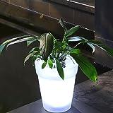 GEZICHTA Solar illuminato fioriera, Solar vaso LED luce LED di energia solare vaso da fiori da giardino lampada paesaggio esterno yard paesaggio LED