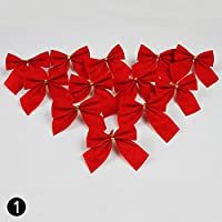 Lazos, de Calistous, para decoración de Navidad, jardines o bodas, 12 unidades