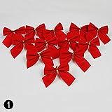 CALISTOUS 12tlg. Schleife Weihnachtsbaum Weihnachtsknoten Party Garten Hochzeitsdekoration rot