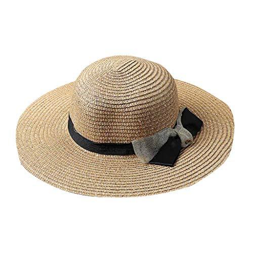 CANDLLY Hut Damen, Zubehör Kopfbedeckung Krempe Diskette Sonnenhut Damen Sommer Faltbares Visier Draussen Strand Großer Strohhut ()