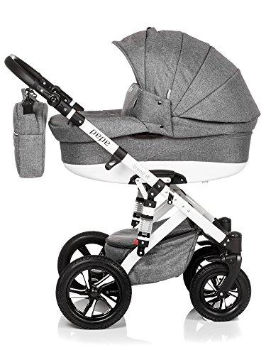 Baby Pram Pushchair Stroller Buggy, Travel System Trend Pepe 20lb white FRAME 3in1 51a8h7DpnzL