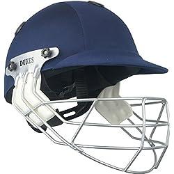 Dukes leyenda críquet deporte casco protector para protección Headwear Senior casco, color azul marino, tamaño Adulto