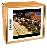 Girlande 180 cm beleuchtet mit 30 LED Lichterkette Batterie Spritzguss Weihnachten