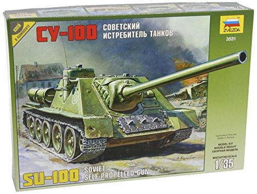 3531 Zvezda 1:35 Moderner Russischer Jagdpanzer SU-100, WWII, Plastik - Modellba