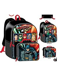 38a0938d6ac7 Justice League Batman Superman Flash Boys Kids School Backpack Bookbag  Combo Set