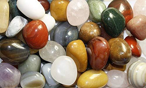 Cosmocolor 02.05.03.25 Trommelsteine,Edelsteine,Heilsteine Mischung Indien,10 Sorten,1 Kg