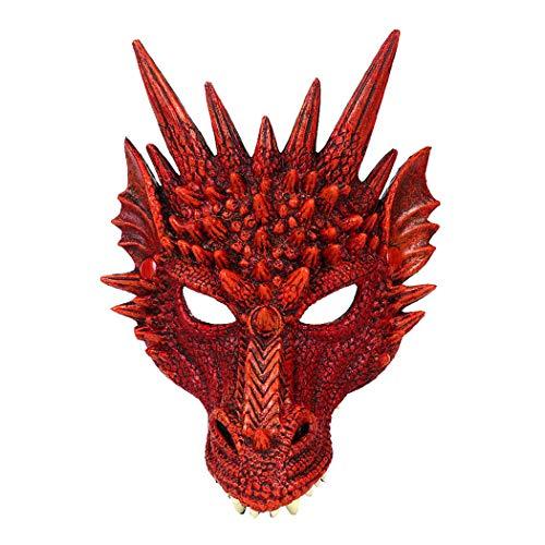 Kapmore Halloween Maske 3D Drache Cosplay Maske Party Kostüm Maske für - Toy Maker Kostüm