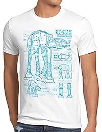 style3 AT-AT Herren T-Shirt blaupause walker