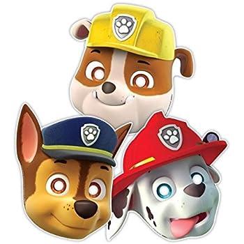 AMSCAN International-Maschere per bambini, motivo Cagnolini colorati, 3 pezzi, multicolore International 999145