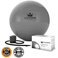 Yoga Gym Ball :: New Stability Balance Swiss Exercise Balls :: Because You Need the Best Quality Anti Burst Rubber :: Fitness Birthing Ball Chair Comes in 65 cm & 55cm Size :: Includes 2 FREE Instructional eBooks :: Instant Lifetime Product Warranty
