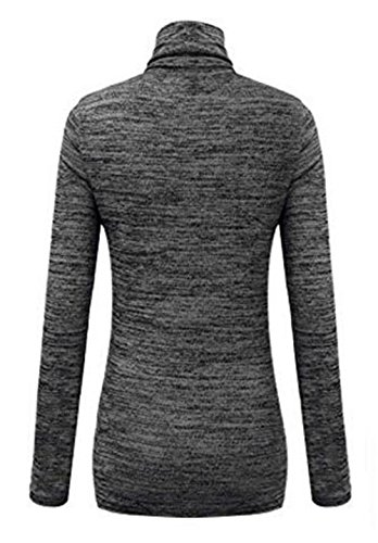 Kerlana Femme Turtle Neck Manches Longues Shirt Knitted Tops Casual Chemisier Sexy Blouses ElÉGant T-shirt Classique Black
