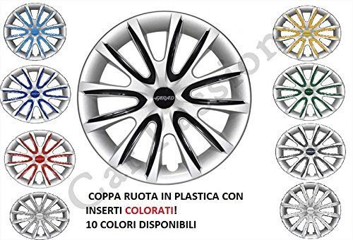 4-COPRICERCHI-FIAT-500-PUNTO-PANDA-BRAVO-COPPE-RUOTA-UNIVERSALI-14-15-16-COLORATI