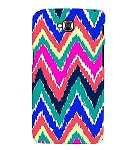 Printvisa Multicoloured Zig Zag Pattern Back Case Cover for LG GPro Lite::LG G Pro Lite Dual D686