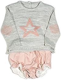 Conjunto jersey estrella y bombacho rosa para bebé niña 77933142d1c