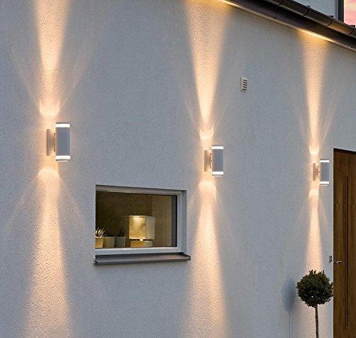 up down wandleuchte wei 2 gu10 leuchten inklusive lichtkegel nach oben unten gerichtet. Black Bedroom Furniture Sets. Home Design Ideas