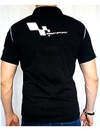 Renault Sport EMBROIDÉ T-shirt en Coton Noir pour Homme Polo