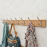 LIANGLIANG Hakenleiste Kleiderhaken Doppelhaken Einreihig Fester Aufhänger Bambus 5 Größen 3 Farben Erhältlich (Farbe : Protokollfarbe, größe : 8)