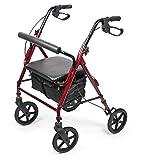 Vitility-Walker Deambulatore per anziani disabili con 4 ruote e freno pieghevole sostegno rollator A25