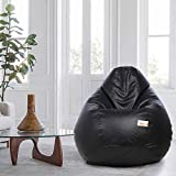 SATTVA Classy.Elegant.Stylish XXXL Bean Bag Filled (with Beans) - Black