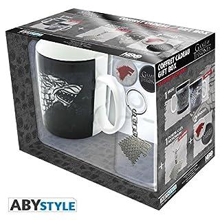 ABYstyle Studio Game of Thrones - Stark 460Ml Mug + Keychain + 2 Badges Pack