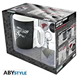 ABYstyle Studio Game of Thrones - Stark 460Ml Mug + Keychain + 2 Badges Pack