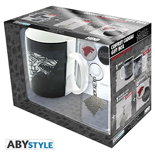 ABYstyle Studio Game of Thrones – Stark 460Ml Mug + Keychain + 2 Badges Pack