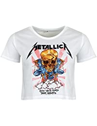 Metallica Damen T-Shirt Scales weiß