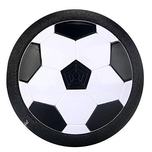Air Power Fußball,Hover Ball Fußball Spielzeug mit Farb-LED-Leuchten und Musik Innen Aktivität , Beste Weihnachtsgeschenk oder Geburtstagsgeschenk für Kinder (Schwarzer Schuh Mit Weißer Unterseite)