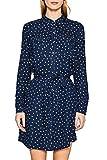 ESPRIT Damen Kleid 107EE1E011, Mehrfarbig (Navy 400), 38