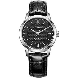 STARKING Women's AL0187SS22 Black Automatic Silver-Tone Stainless Steel Watch