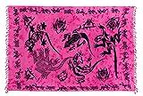 Sarong Pareo Wickelrock Strandtuch Schal Handtuch Strandkleid Decke Wandbehang Pink