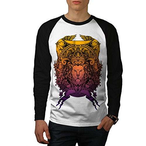 King Animal Lion Face Mad Men M Baseball LS T-shirt | Wellcoda (Men-anzug Mad)