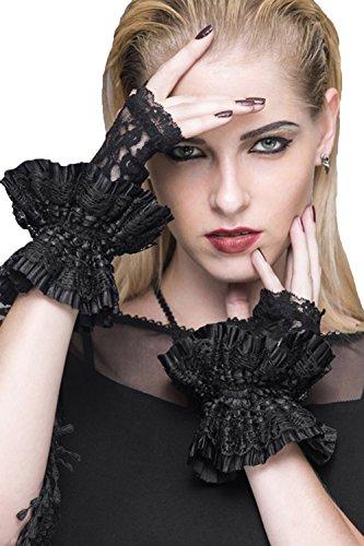 Devil Fashion Frauen Sexy Black Lace Fingerlose Handschuhe Floral Lace Handschuhe Kostüm Gothic Steampunk Handschuhe