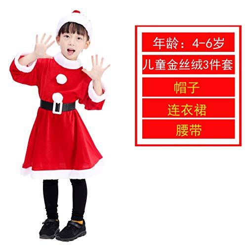 LanMiu Weihnachtskostüm Kinder Erwachsene Weihnachtsmann Kleidung Dekorationen kleine Geschenke Weihnachten Kleidung weibliche Männer Zeigen ()