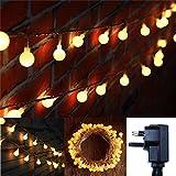 FFNW Globe Fairy Lights 10 Meters 100 LEDs Garden Bedroom LED String Lights Safe Voltage Decorative Lights for Wedding, Party, Outdoor, Indoor, Home, Room (Warm White)