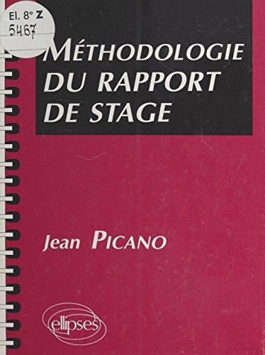 Méthodologie Du Rapport De Stage French Edition Ebook