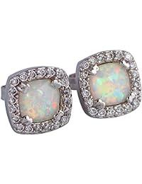 Gift Party Wedding White opal earrings 925 Sterling Silver earrings Cute tortoise for women E160