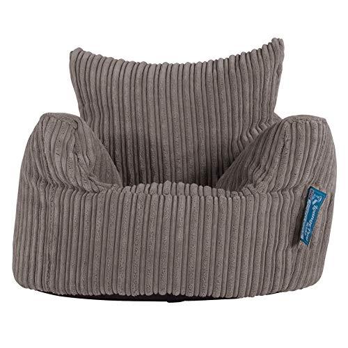 Lounge Pug®, Puff Sillón para niños, Pana Clásica - Grafito