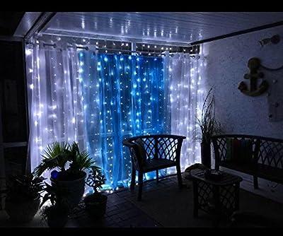 Salcar LED Lichterkettenvorhang 3m*3m, 6 * 3m, 9 * 3m Wasserfest LED Lichterkette Lichtervorhang