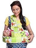 #9: MomToBe Cotton Fabric Feeding/Nursing Pillow - HD Foam,Green, Bear Print